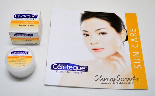 Celeteque DermoScience Sun Care Soothing Lip Balm w/ SPF15