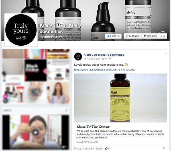 Press: Featured at Klairs / Dear Klairs Cosmetics | Facebook