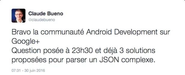 Aide de la communauté de développeur Android