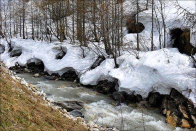 L'Isère, en amont de Val d'Isère
