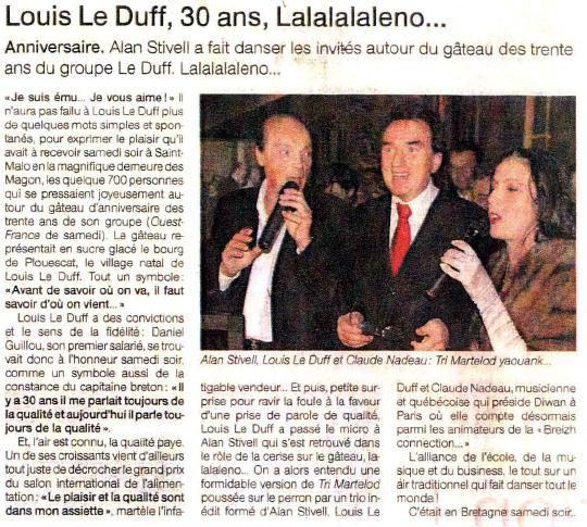 30 ans Groupe Le Duff