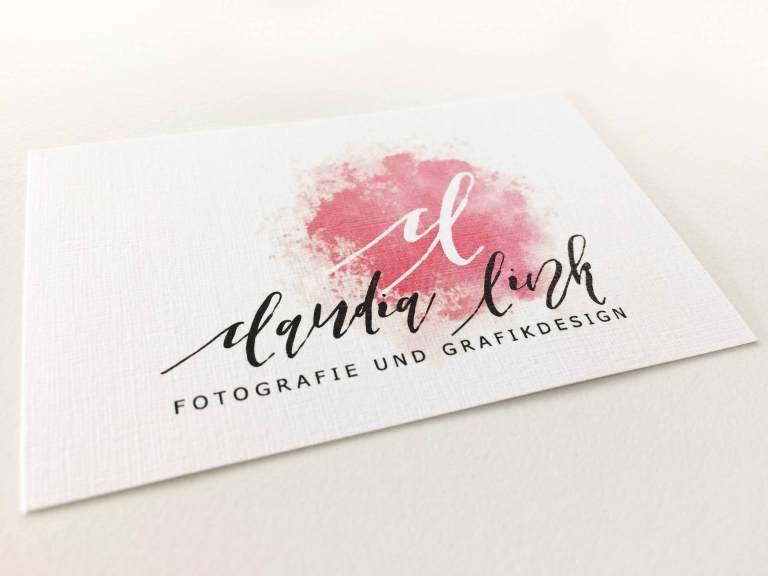Visitenkarte und neues Logo von Claudia Link Fotografie und Grafikdesign