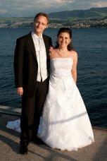 Das Brautpaar am Zürichsee