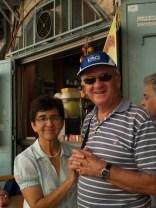Ana Dilia und Richard an der Via Dolorosa
