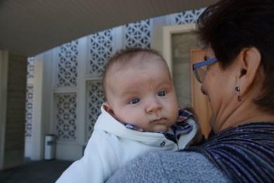 Lucas David mit Großmutter Ana Dilia, 18 Mai 2014