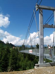 Skywalk. Mit 374 Metern die längste Fussgängerhängebrücke der Welt
