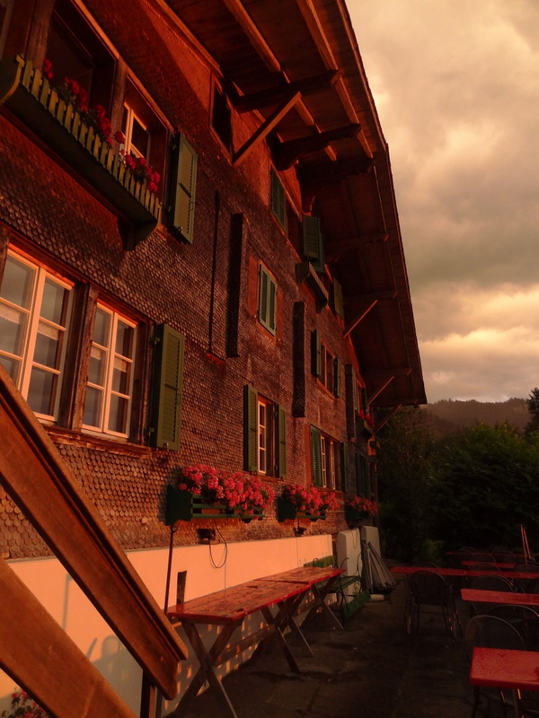 Sonnenuntergang im B&B Finel in Leissingen