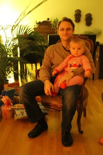 Papa mit Don Lucas, Weihnachten 2014