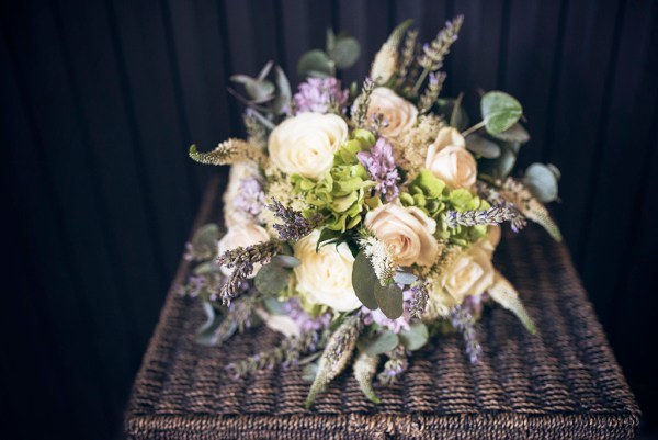 country chic bouquet - destination wedding tuscany