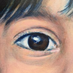 detail of Portrait of small child by Claudia Dose