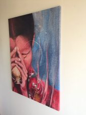 """""""Devotion"""" - canvas print of orginal painting by Claudia Dose"""