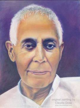 portrait painting of Swami Lakshmanjoo