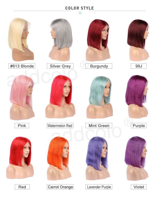 color human hair wigs