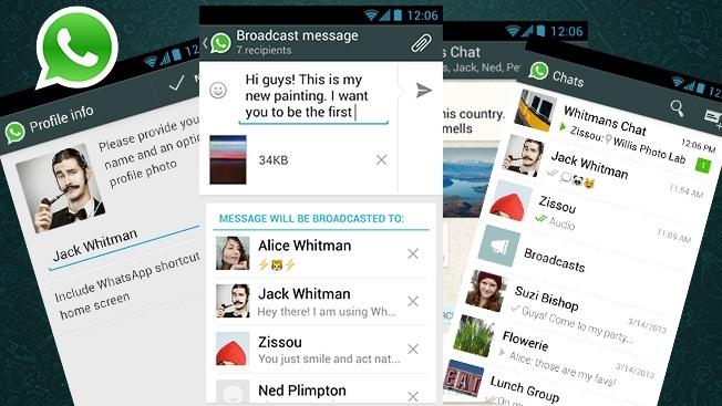 varias telas do whatsapp com vários grupos,