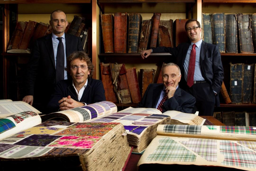 Albino (Bergamo), Stefano, Andrea, Silvio e Fabio Albini negli stabilimenti Albini Group 2011-12-07 © Massimo Sestini
