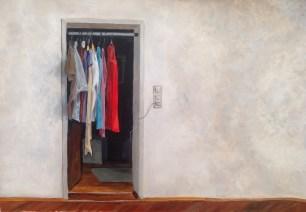 Die Wand. Acryl auf Papier, ca. 40 x 30 cm, 2016
