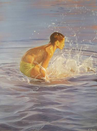 Splash! Öl und Acryl auf Leinwand, 60 x 80 cm, 2017
