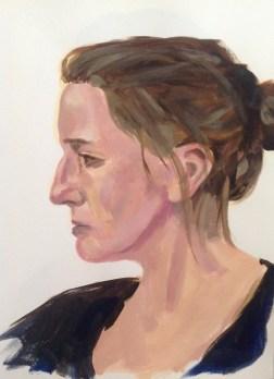 Frauenportrait. Acryl auf Papier, 2016