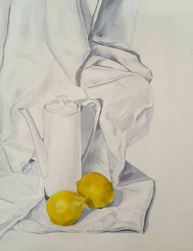 Zitronen. Acryl auf Papier, ca. 35 x 50 cm, 2017