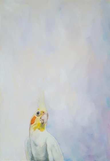 Auseinander, Teil 1. Öl auf Malplatte, 18 x 24 cm, 2018