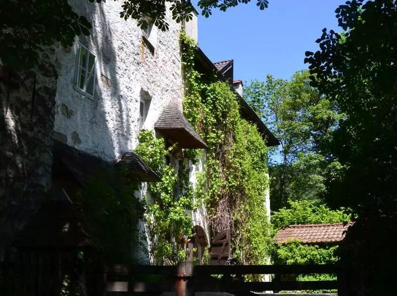 Verwuntschener Garten beim Schloss in Sankt Jakob