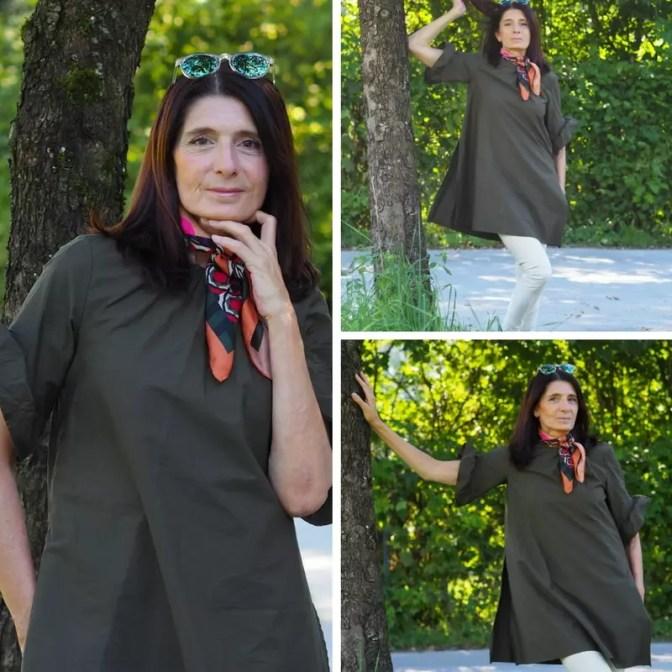Zara Kleid oliv