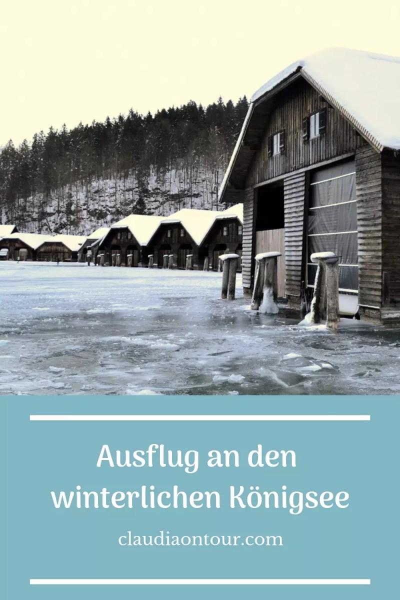 Der Königsee im Winter.