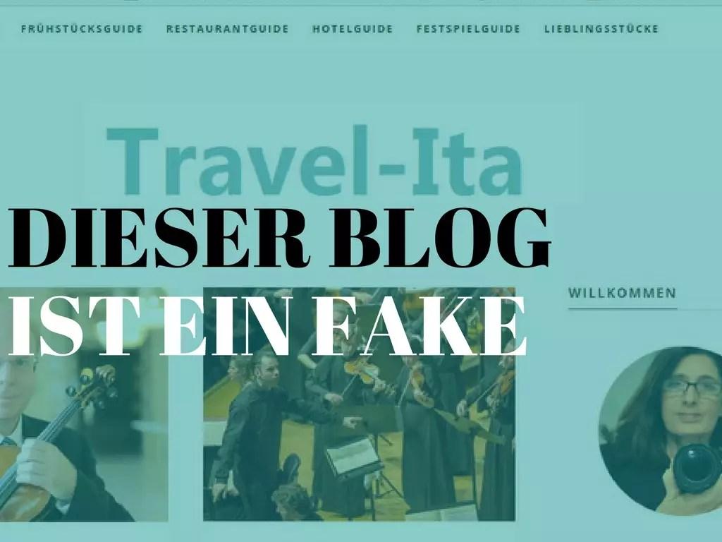 Dieser Blog ist ein Fake; dreister Diebstahl
