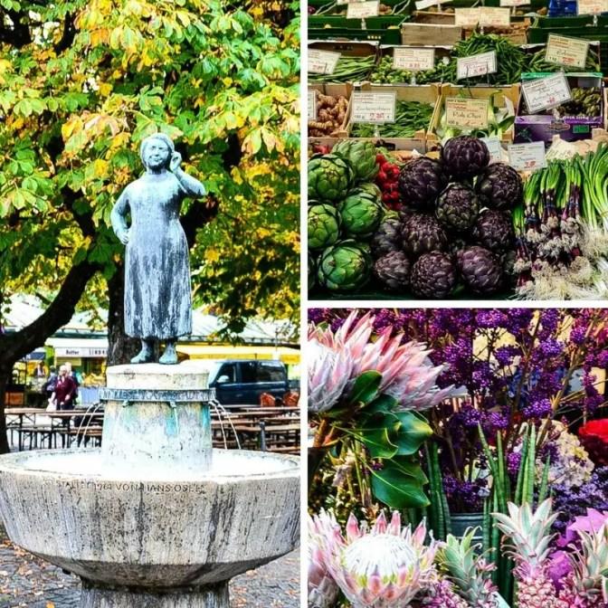 Blumen und Obst am Viktualienmarkt