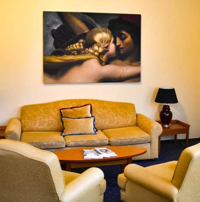 Wohnbereich in der Suite Falkensteiner Marienbad