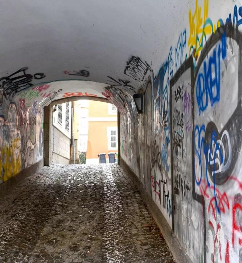 Alter torbogen in Mülln, salzburg