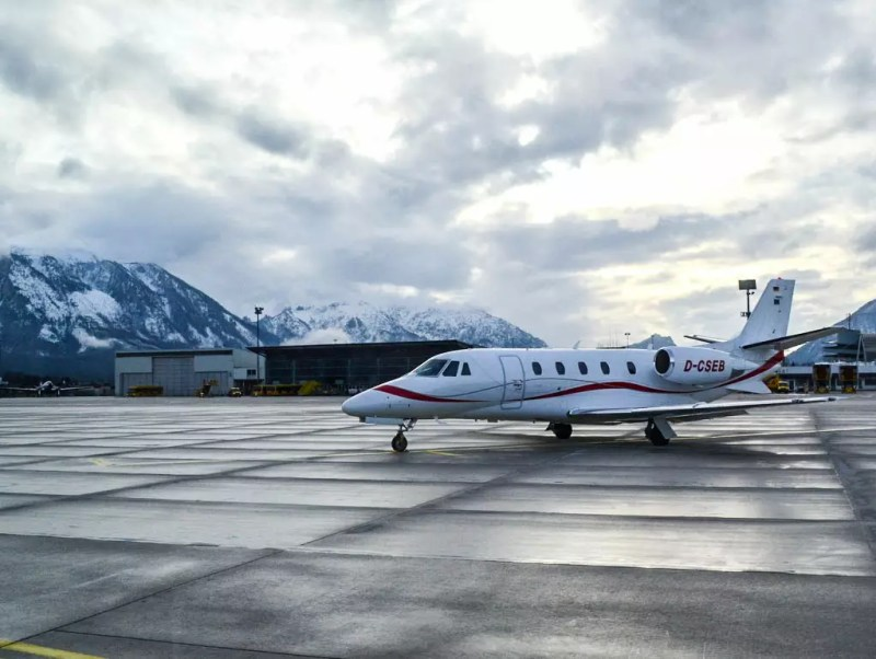 Privatjet am Flughafen Salzburg