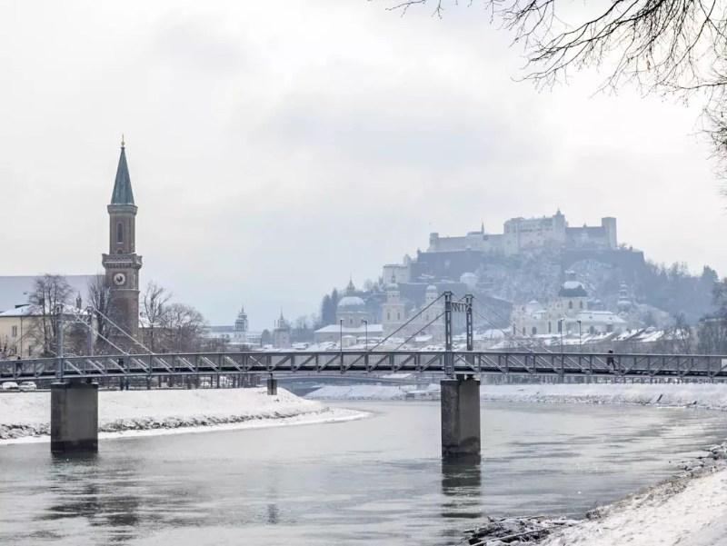 Salzburg Altstadt im Winter