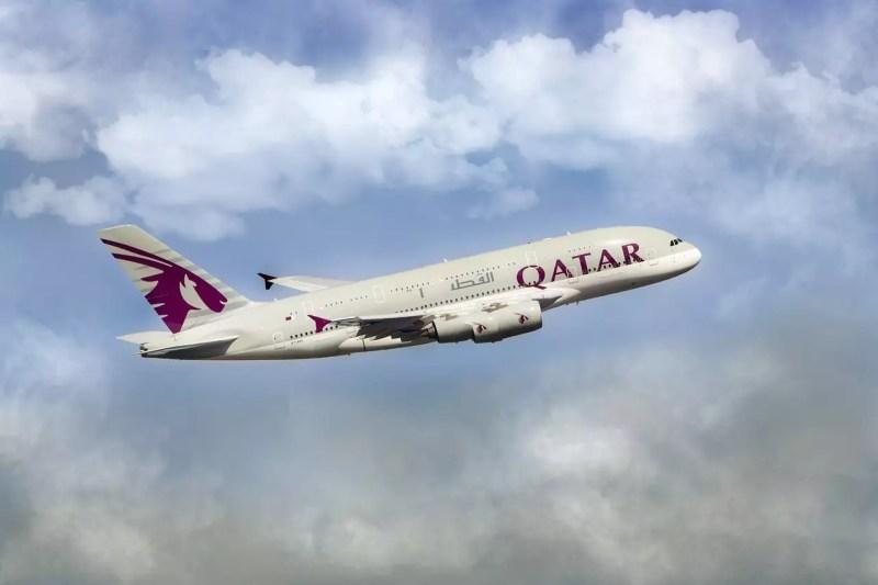 Flugzeug Qatar Airways