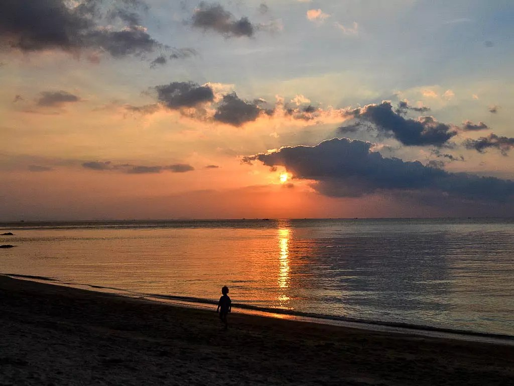 Sonnenuntergang auf Koh Phangan