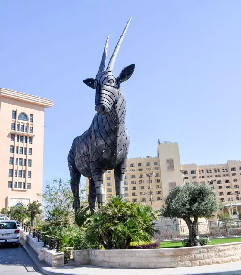 Antilopen Statue in Doha