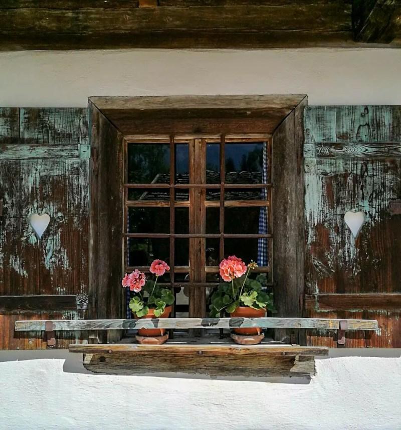 Fenster von einem Bauernhaus