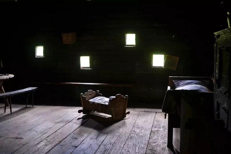 Schlafzimmer in altem Bauernhaus