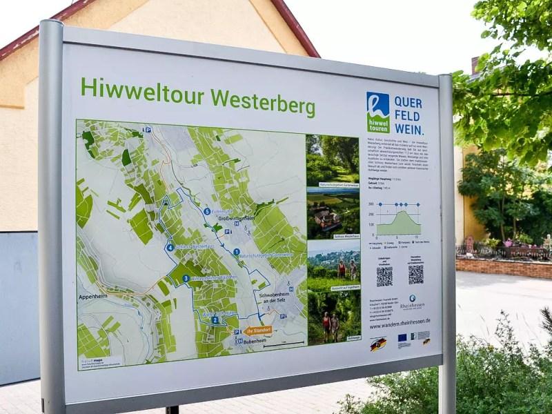 Karte Hiwweltour Westerberg
