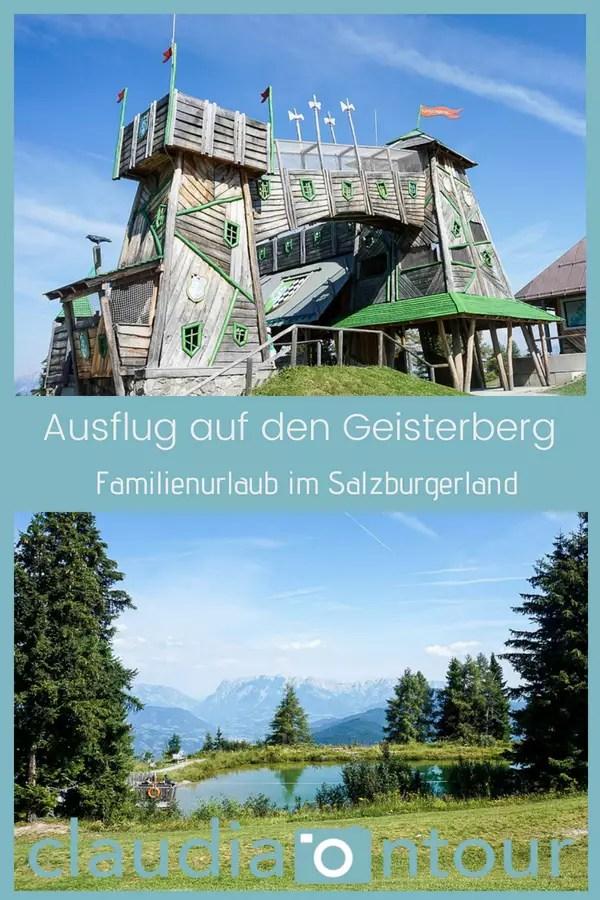 Familienausflug im Salzburgerland. Der Gesiterberg oberhalb vom Alpendorf.