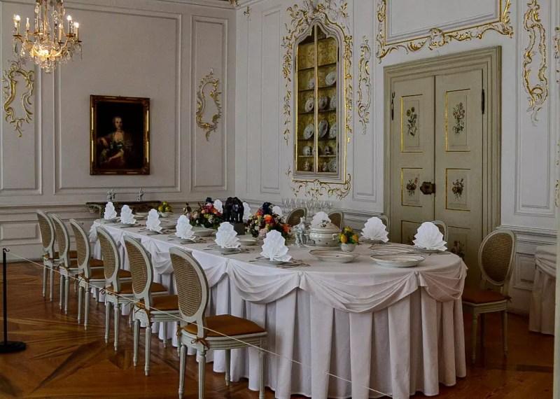 Kaffeetafel im Schloss Tettnang