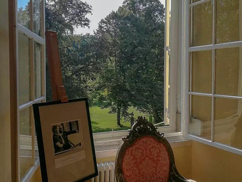 Blick aus dem Schloss Leopoldskron