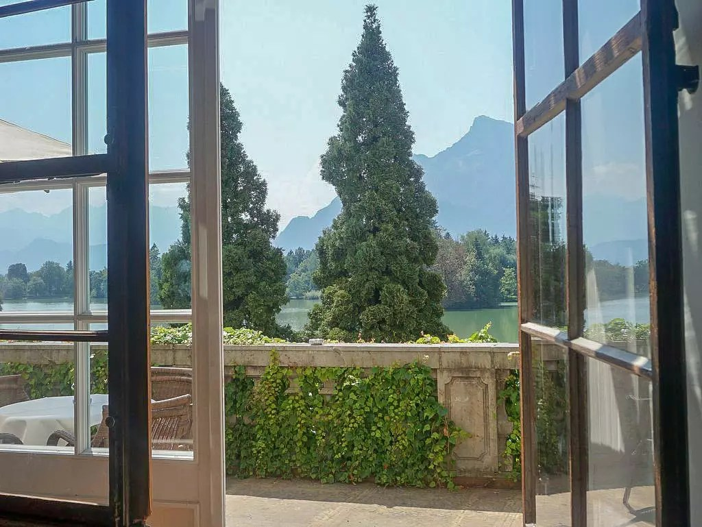 Ausblick aus dem Schloss Leopoldskron