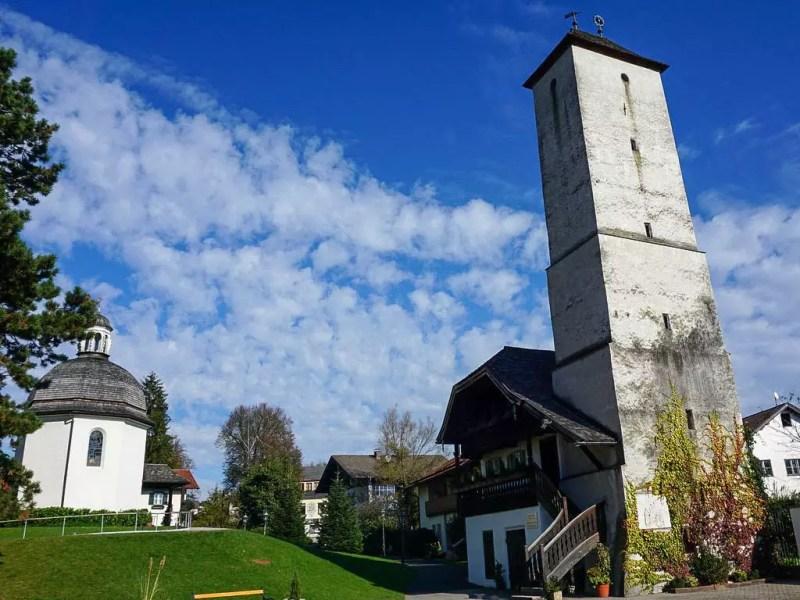 Wasserturm und Stille Nacht Kapelle