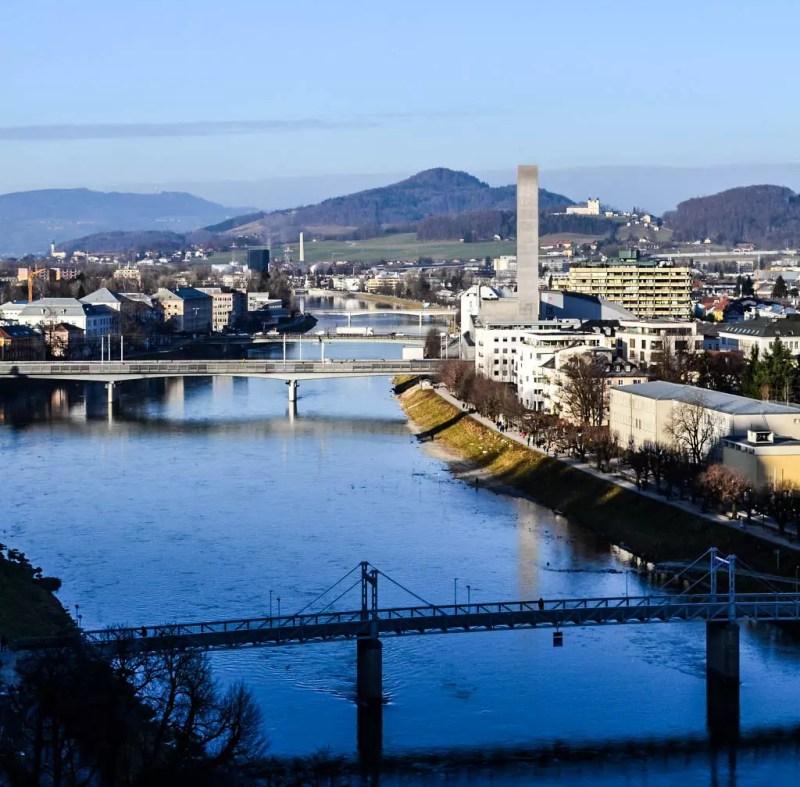 Blick in den Norden von Salzburg