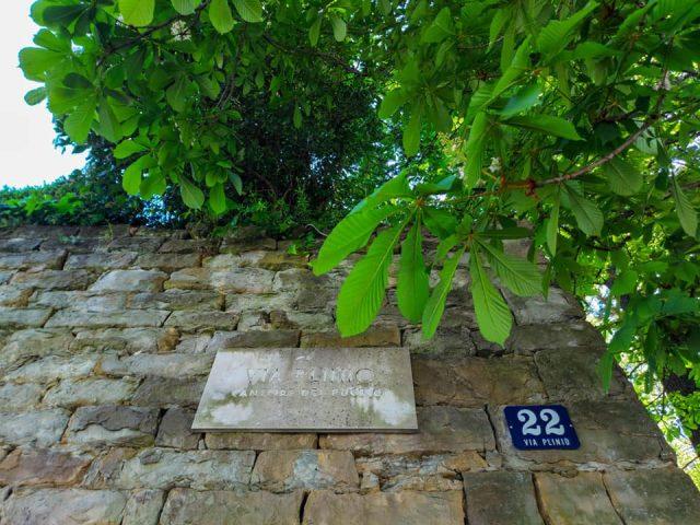Trieste, Sentiero Natura, ingresso da Via Plinio