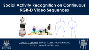 "Front of the ""Social Activity Recognition on Continuous RGB-D Sequences"" Presentation"