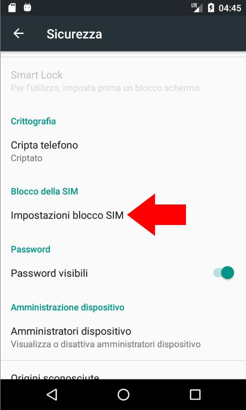 Android 6 - Blocco Della SIM
