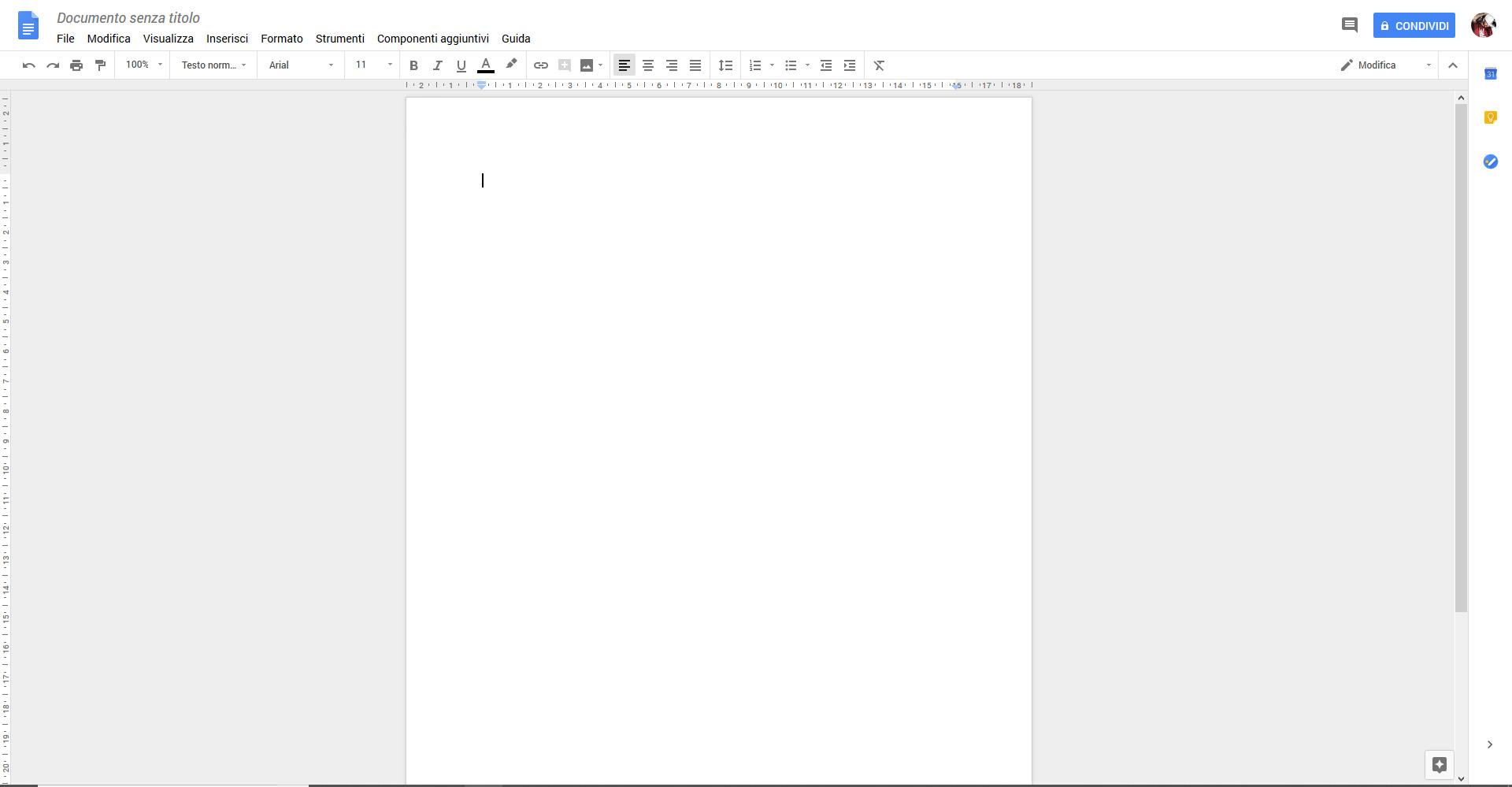 Come usare Google Documenti - Schermata Google Documenti
