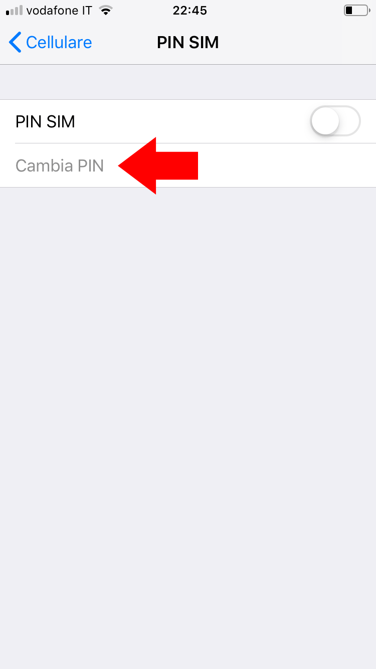 Cambiare PIN iPhone - Cambia PIN